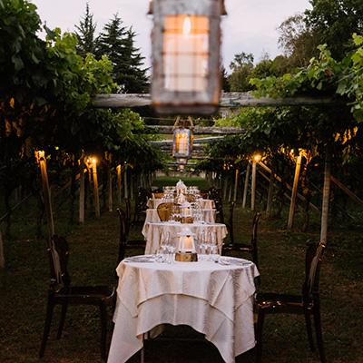 Organización de eventos banquete al aire libre