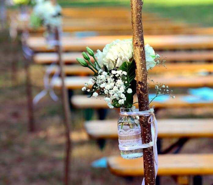 Servicio de organización de bodas ceremonia al aire libre
